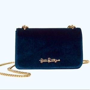 Lilly Pulitzer NWT Velvet Bag Chain
